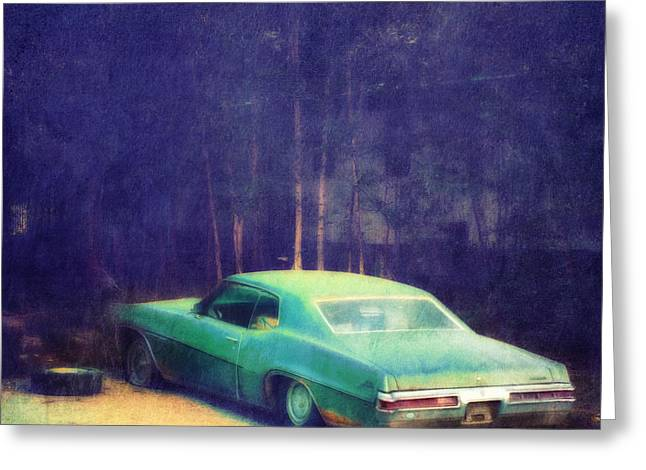 The Old Car Greeting Card by Priska Wettstein