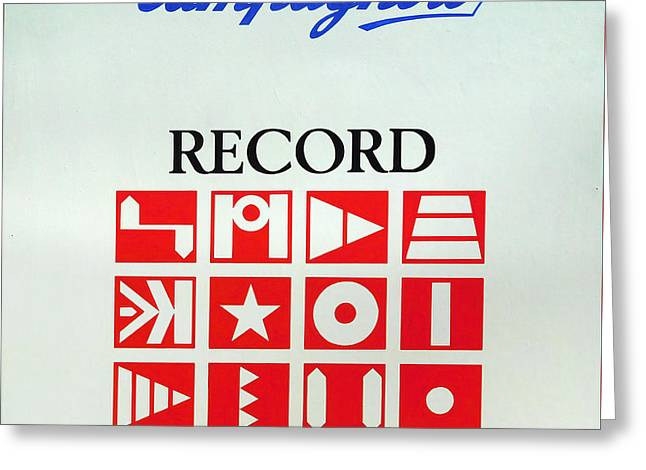 C Record Shop Sign Greeting Card