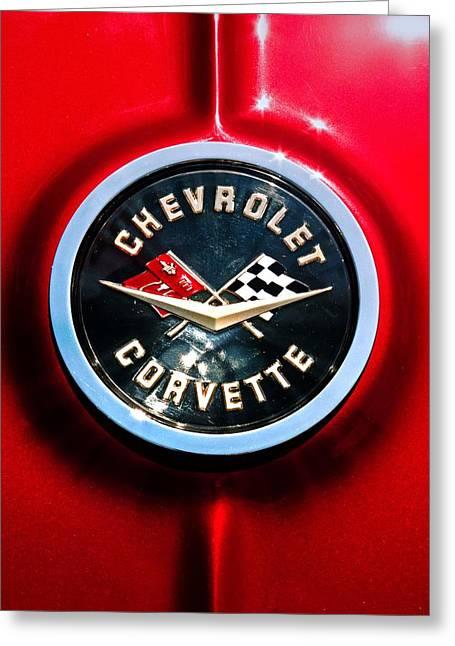C2 Corvette Logo Greeting Card by Scott Wyatt