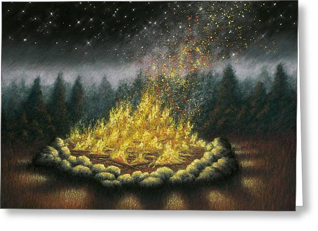 Campfire 01 Greeting Card