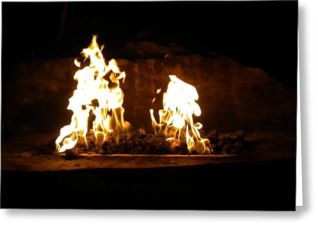 Cabana Fire  Greeting Card