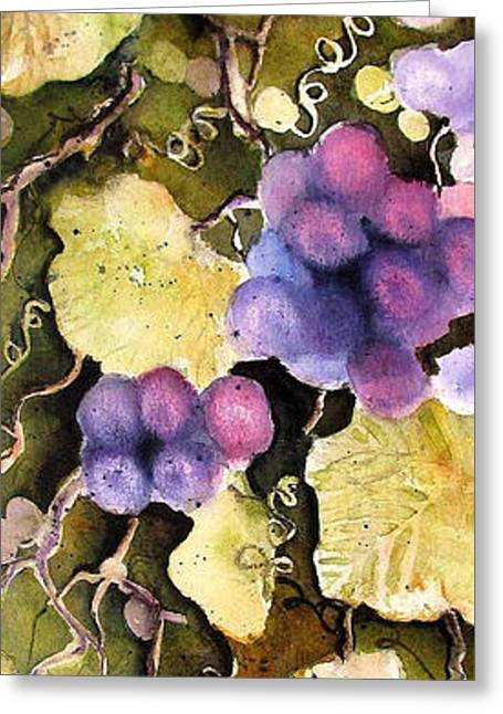 Greeting Card featuring the painting Cabernet Harvest 2 by Marti Green