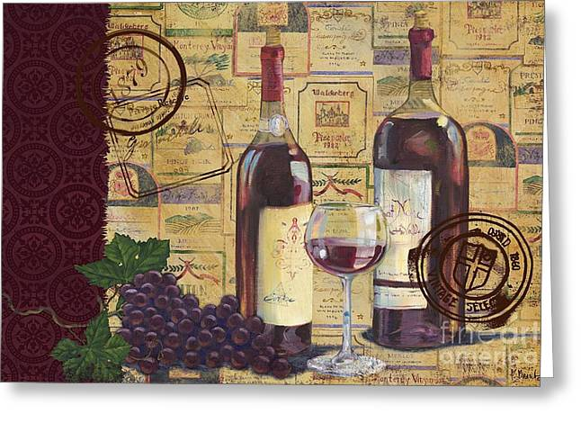 Cabernet Valley Greeting Card by Paul Brent