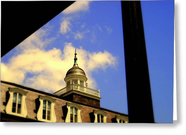 Cabildo Cupola Jackson Square Greeting Card by Ted Hebbler