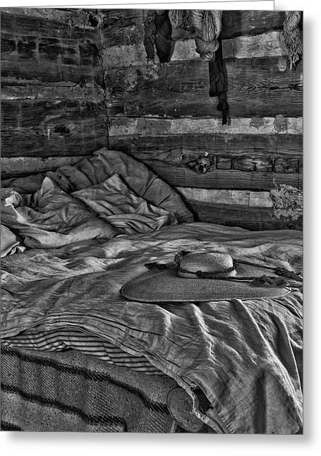 Cabin Bed Greeting Card