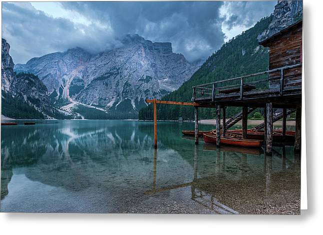 Cabin By The Lake Greeting Card