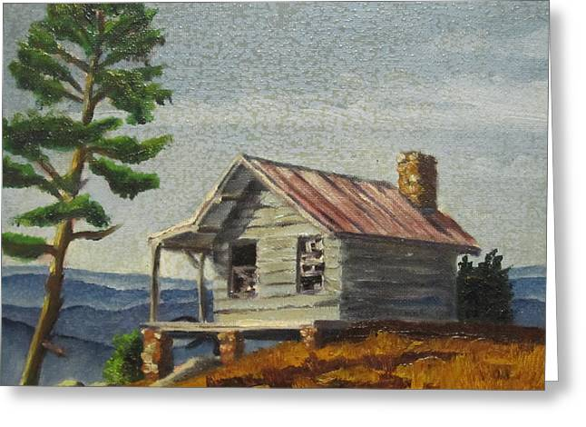 Cabin Greeting Card by D T LaVercombe