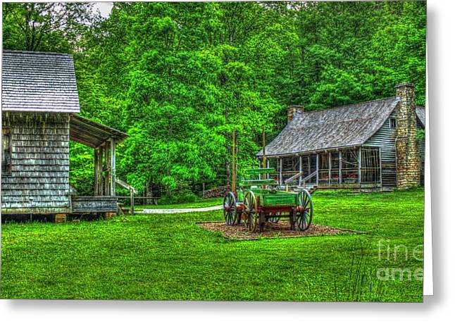Greeting Card featuring the photograph Cabin Fever Great Smoky Mountains Art by Reid Callaway