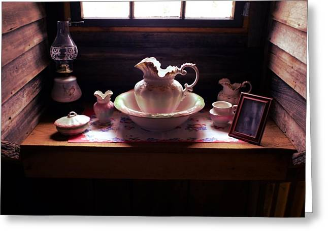 Cabin Grooming Still Life Greeting Card by Stacie Siemsen