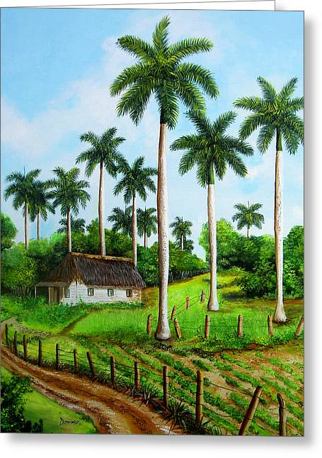 Cabin In The Cuban Landscape Greeting Card