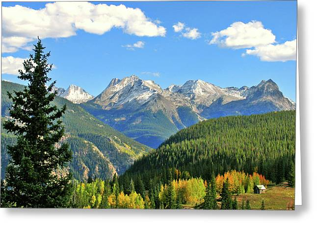 Durango Greeting Cards - Cabin in The San Juans Greeting Card by Scott Mahon