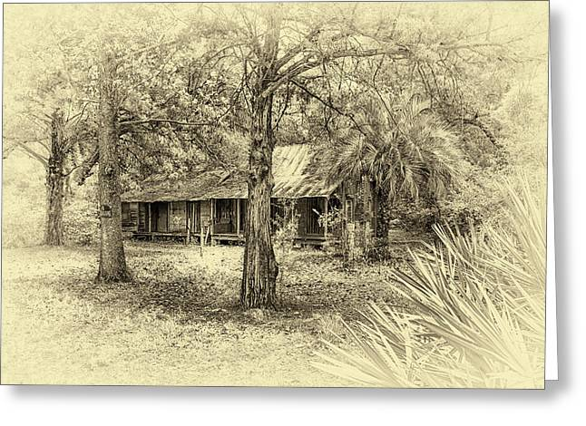 Greeting Card featuring the photograph Cabin In The Woods by Louis Ferreira