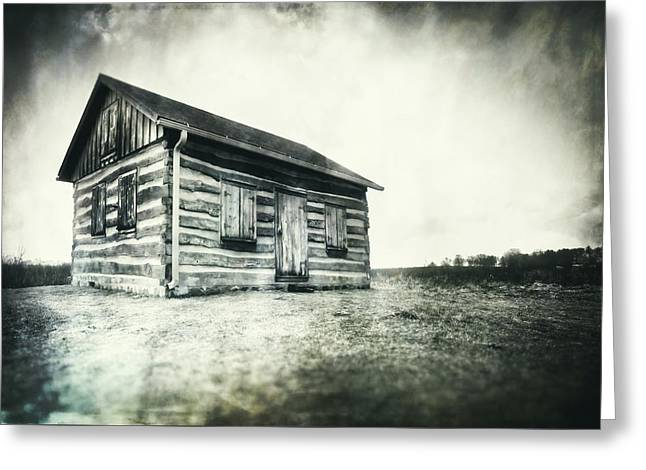 Greeting Card featuring the photograph Cabin Near Paradise Springs - Kettle Moraine State Forest by Jennifer Rondinelli Reilly - Fine Art Photography