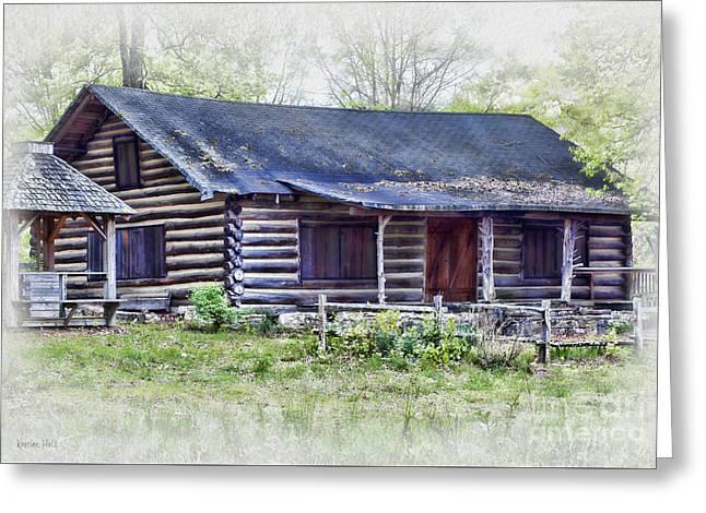Cabin Of Bygone Days Greeting Card by Korrine Holt