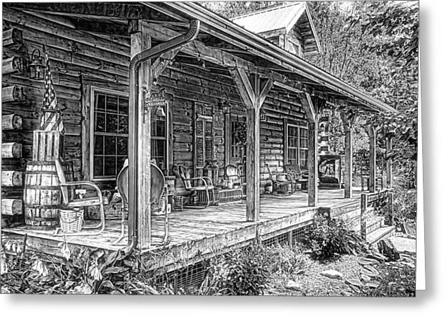 Cabin On The Hill Greeting Card by Tom Mc Nemar
