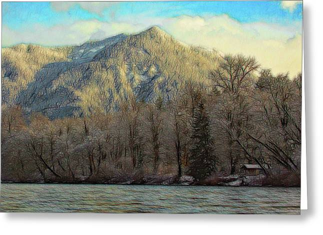 Cabin On The Skagit River Greeting Card