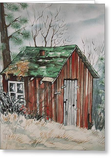 Cabin Shack Greeting Card
