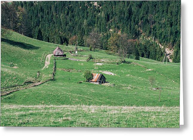 Cabins In The Valley Down Below Greeting Card by Pati Photography
