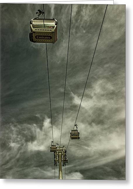 Cable Car Greeting Card by Martin Newman