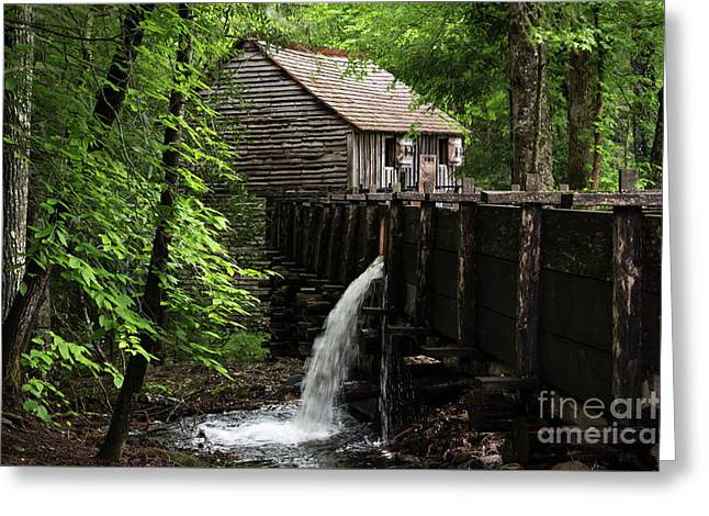 Greeting Card featuring the photograph Cable Grist Mill by Andrea Silies
