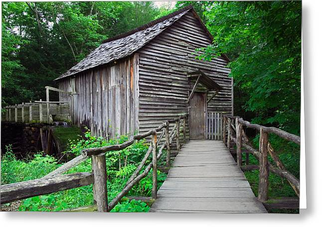 Cable Mill At Cades Cove, Great Smoky Greeting Card by Panoramic Images