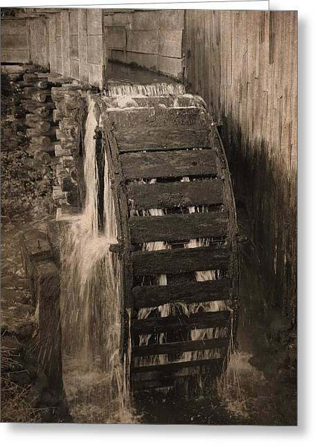 Cable Mill Cades Cove Greeting Card by Dan Sproul