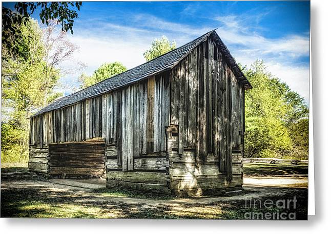 Cable Mill  Cantilever Barn Greeting Card by Nick Zelinsky