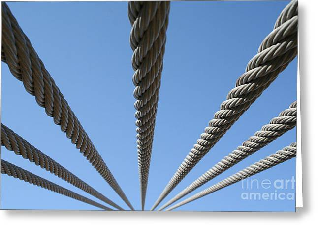 Greeting Card featuring the photograph Cables To Heaven by Andrew Serff