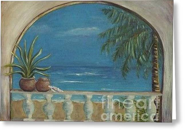 Cabo Arch Greeting Card by Jeanie Watson