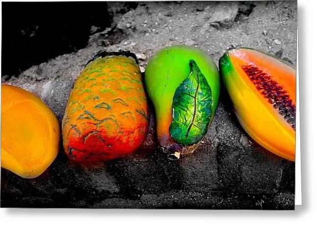 Cabo Fruit Art Greeting Card