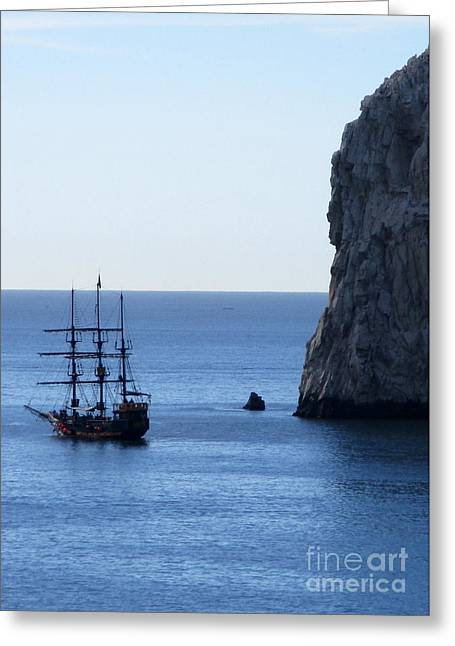 Cabo Pirate Ship Greeting Card