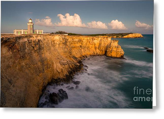 Cabo Rojo Lighthouse At Dusk Greeting Card