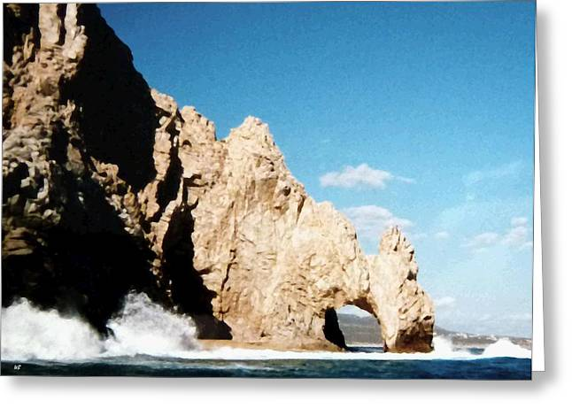Cabo San Lucas Arch Greeting Card by Will Borden