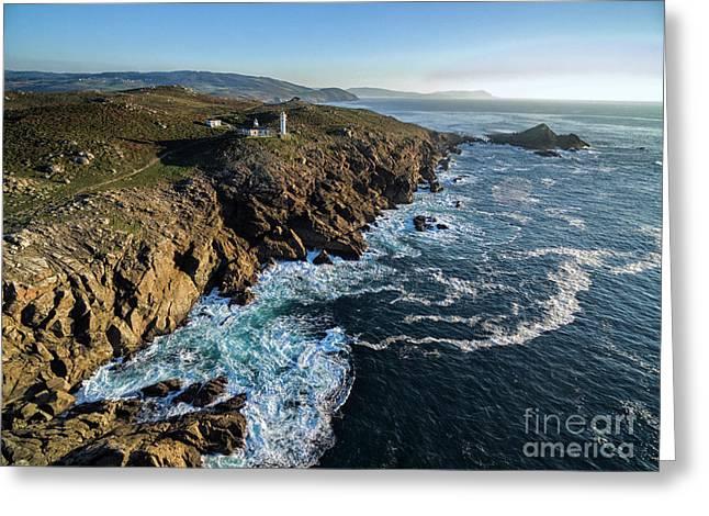 Cabo Tourinan - Aerial Image Greeting Card