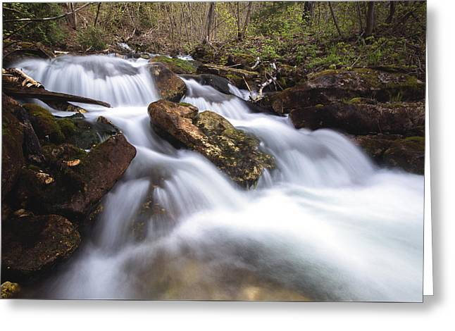 Cabot Head Waterfall Greeting Card by Cale Best