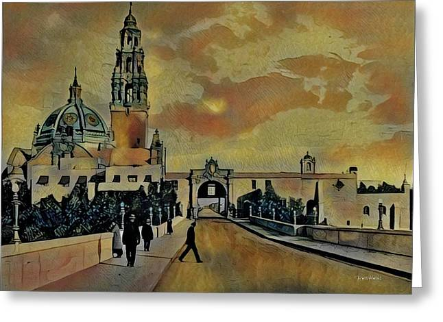 Cabrillo Bridge And Museum Of Man Greeting Card by Russ Harris