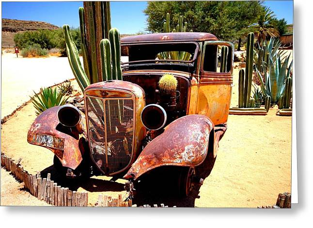 Greeting Card featuring the photograph Cactus Car by Riana Van Staden