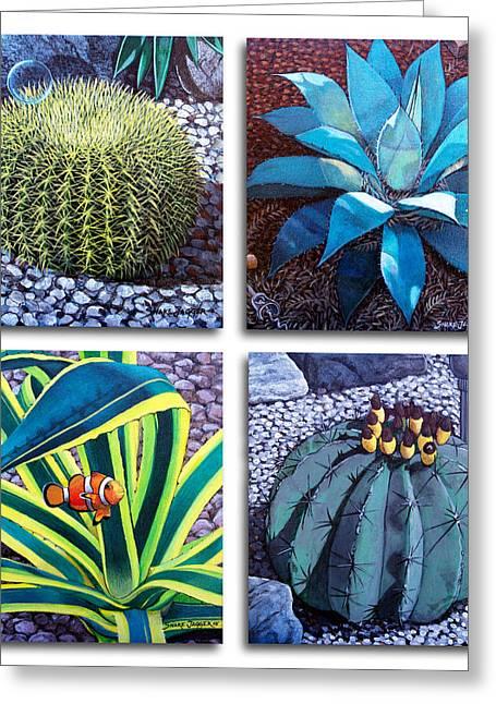 Cactus Close Ups Greeting Card