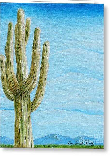 Cactus Jack Greeting Card by Joseph Palotas