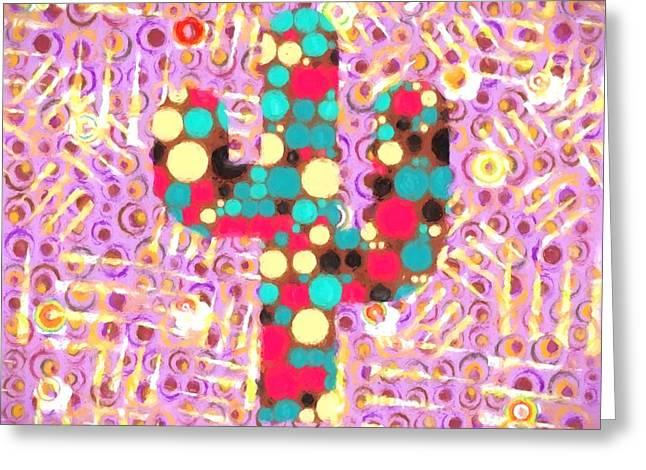 Cactus Pop Art Greeting Card