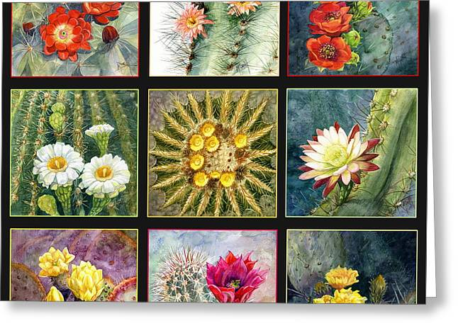 Greeting Card featuring the painting Cactus Series by Marilyn Smith
