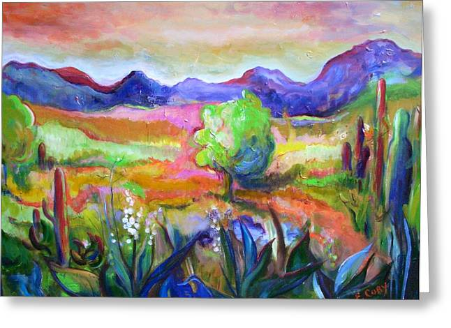 Cactus Spring Greeting Card by Elaine Cory