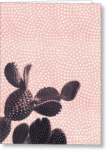 Cactus With Polka Dots Greeting Card