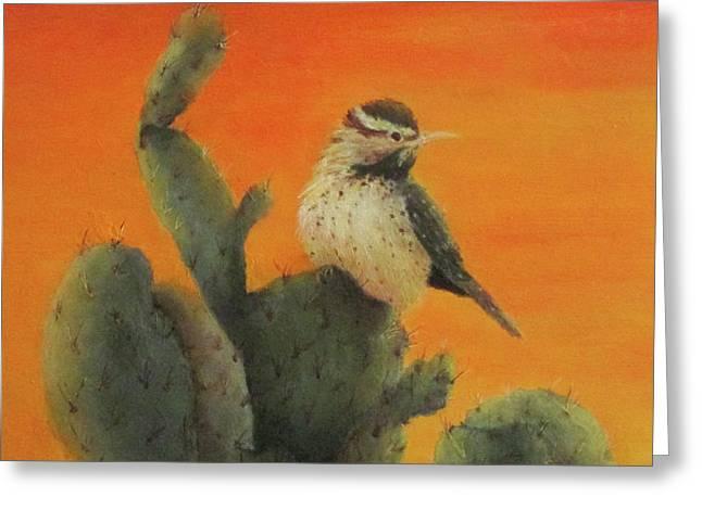 Cactus Wren Greeting Card