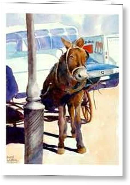 Cadallic Coup De Mule Greeting Card by Bobby Walters