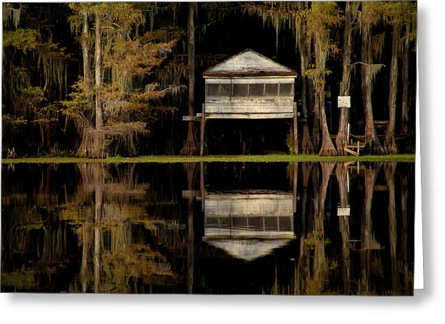 Caddo Lake Boathouse Greeting Card