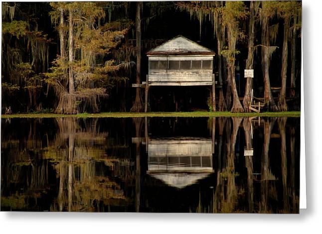 Caddo Lake Boathouse Greeting Card
