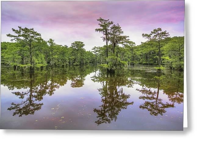 Caddo Lake Sunrise 1 Greeting Card by Rob Greebon