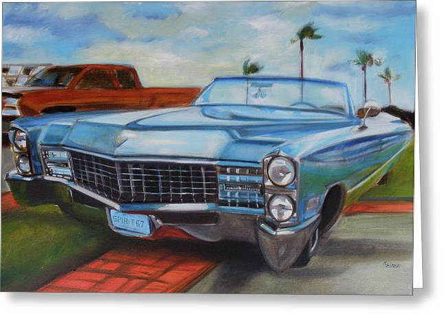 Caddy Spirit Of 67 Greeting Card