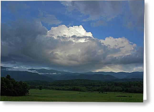Cades Cloud Greeting Card by Jerry LoFaro